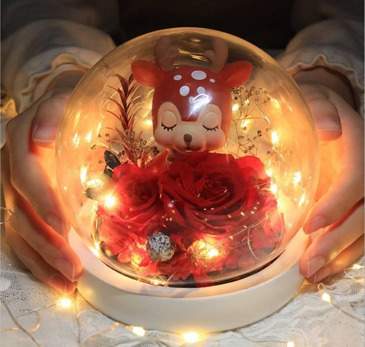 Eternal Roses Flower in a crystal ball