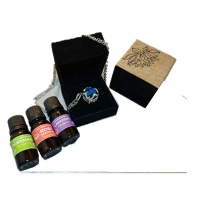 Essential Oil Necklace - Four Leafs Clove (Free Delivery)