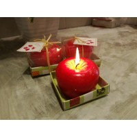 Apple Candle - Christmas Gift
