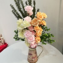 Roses in Classic Vase - European Style (Artificial flower)