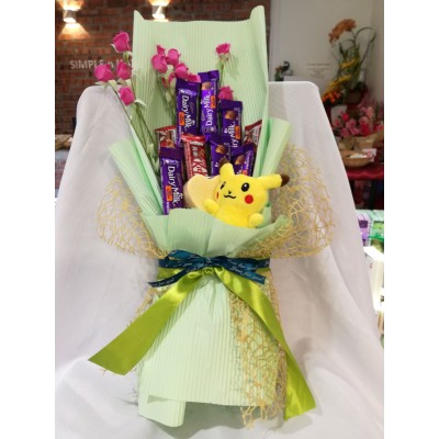 Chocolate Flower + Handmade Soap Bouquet