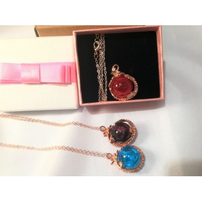 Diffuser Necklace -flying dragon Free Jewellery Box