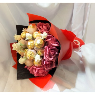 Mothers' Day Ferrero Rocher Chocolate Flower Bouquet