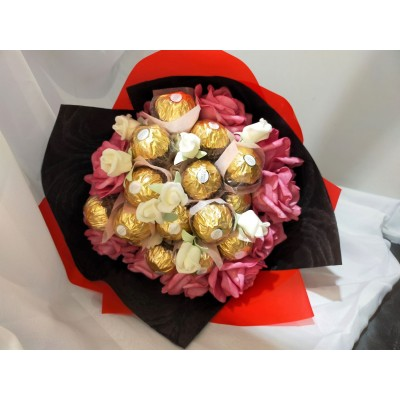 Valentines' Day Ferrero Rocher Chocolate Flower Bouquet