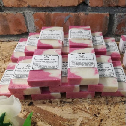 Rose Geranium Handmade Soap for Face & Body (Anti Wrinkle+extra moisturising)