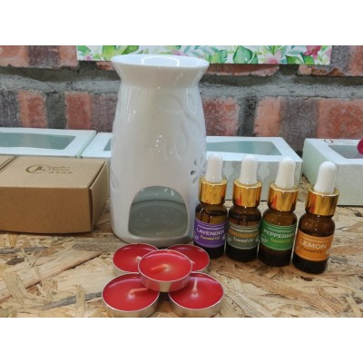 Essential Oil Burner Set - Free extra 5 candles