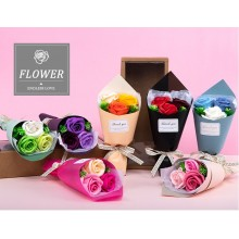 Soap Flower mini bouquet in box (3 roses)