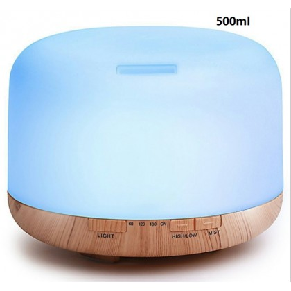 500ml Aroma Diffuser- Strong mist- 3 modes with remote control-Free handmade Soap