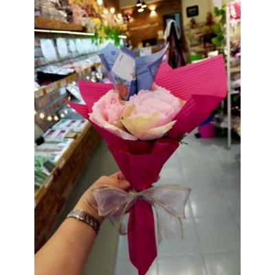 Cash flower with artificial roses RM1*3pcs
