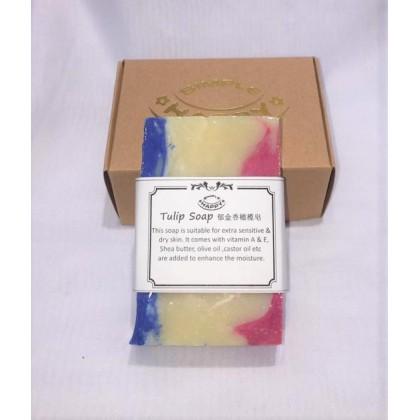 Tulip Fragrance Handmade Soap Free bubble net 100g