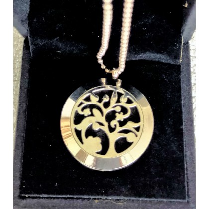 Essential Oil Necklace-Stainless steel 2 layers