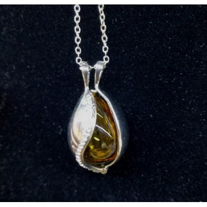 Essential Oil Necklace- Tear Drop