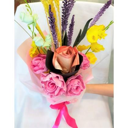 Cash Flower Bouquet (1 Cash Rose)