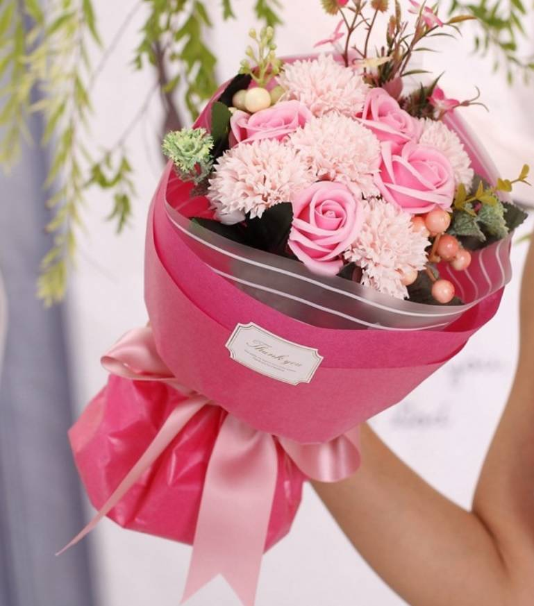 Soap Flower Bouquet with gift box